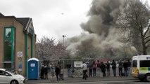 Il voulait filmer la démolition d'une tour en Ecosse mais la chance n'était pas avec lui !