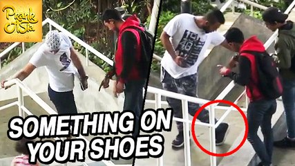 Fooling People | Something On Your Shoes | Prank Asia