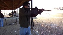 Gary shooting the DPMS Oracle AR 15