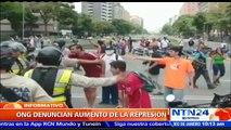 ONG asegura que ha aumentado la represión por parte de cuerpos policiales y militares durante manifestaciones en Venezuela