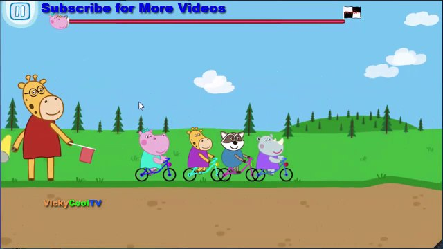Peppa Pig Em Portugues andar de bicicleta | Jogos Para Crianças | Jogos Peppa Pig VickyCoolTV