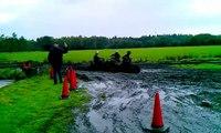 Provincie Gelderland 27-9-2012 Quadrijden na een hevige regenbui