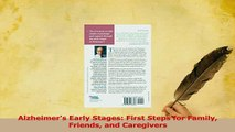 PDF  Alzheimers Early Stages First Steps for Family Friends and Caregivers  EBook