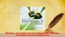 Read  Biology Concepts and Investigations Biology Concepts and Investigations Ebook Online
