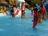 Kids Enjoying The - Kids Enjoying The Pool - Pool Kids Party Swim Fun.