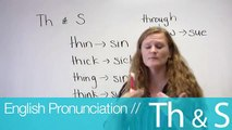 """English pronunciation """"sound of th and s"""" by Ronnie"""