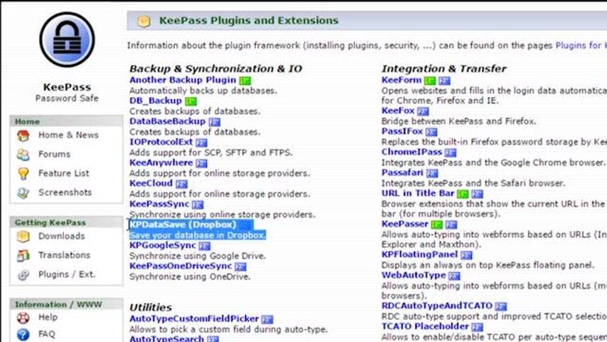KeePass Password Safe, a completely free, open source password manager