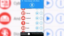 Voice Changer With Effects, an easy to use voice changer with effects