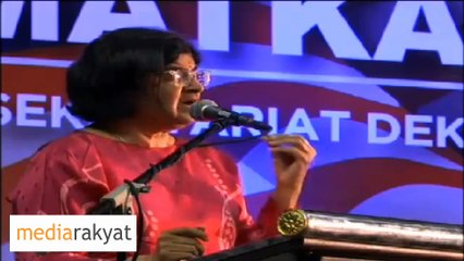Ambiga Sreevanasen: Make This By-Election A Referendum‎ On Najib, We Must Make Sure They Lose
