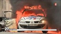 Les larmes touchantes du policier qui a étonné la France par son sang-froid quand les casseurs ont mis le feu à sa voitu