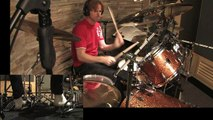 Drum Lesson No.28: Linear Fills Lesson # 8. Double Drops in Groups of 5 & 3 By CHRIS BRIEN in HD