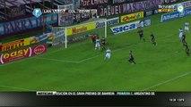 Montoya ataja con la cara. Lanús 1 - Colón 0   Torneo Final 2014 - Fecha 12
