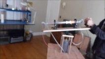 Il construit une tourelle de tir avec un canon laser fait maison !