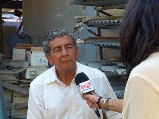 Eduardo Torres, refugiado político y voluntario en Portoviejo