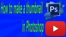 How to make a thumbnail in Photoshop in Urdu and Hindi