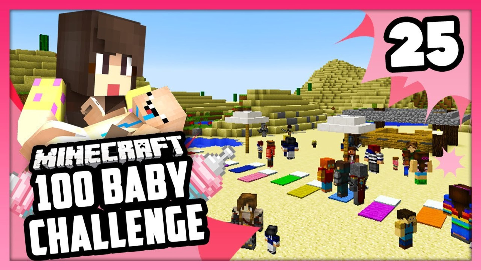 Huge Family Vacation Minecraft 100 Baby Challenge Ep 25