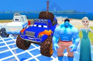 Chansons voitures Disney Yeti & Blue Grit Frozen Elsa & Blue Hulk Enfants Comptines