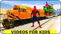 Entraîner drôle pour Cartoon enfants avec Spiderman et Comptines Chansons pour enfants