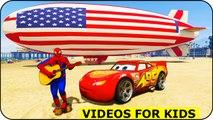 Spiderman et Blimp! Voitures Cartoon avec Lightning McQueen pour les enfants Comptines Chansons pour enfants