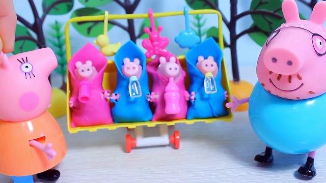 Свинка Пеппа  Новорождённые малыши  Купаем  Играем  Мультфильм для детей  Peppa Pig