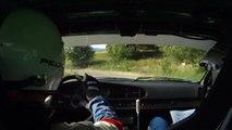15° Rallye cote roannaise 2010 ES 1 porsche 968 Caméra embarquée glisse