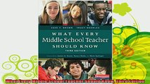 new book  What Every Middle School Teacher Should Know Third Edition