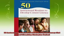 read here  50 Instructional Routines to Develop Content Literacy 3rd Edition Teaching Strategies