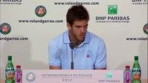 Roland Garros 2012: Juan Martin Del Potro Interview (Day 1) 27/05/12