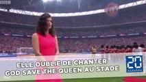 Elle oublie de chanter God Save The Queen au stade, grand moment de solitude