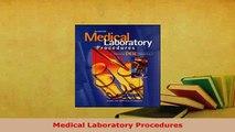 Download  Medical Laboratory Procedures  EBook