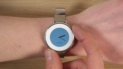 Montre connectée - Prise en main de la Pebble Time Round