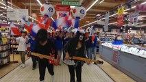 Quand le Carrefour de Charleville Mezières fête l'Euro 2016