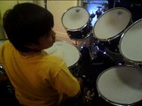 10 year old Drummer Kid Anthony drums to Phil Collins sICK drummer kid Part 1 04/10/10