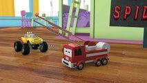 Camion pompier, bulldozer, voiture de course & Lucas le Petit Camion   Dessin animé pour les enfants