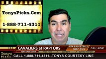 Toronto Raptors vs. Cleveland Cavaliers Free Pick Prediction Game 4 NBA Pro Basketball Odds Preview