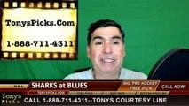 St Louis Blues vs. San Jose Sharks Free Pick Prediction NHL Playoffs Game 5 Odds Preview