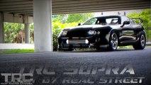 1100+HP NighTTmare Mustang battles TRC Supra - 180mph race!