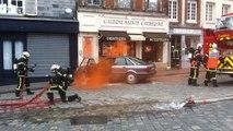 Les sapeurs-pompiers en exercice à Honfleur