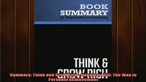 Downlaod Full PDF Free  Summary Think and Grow Rich  Napoleon Hill The Way to Personal Achievement Full Free