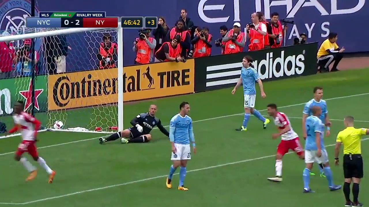 Bradley Wright-Phillips nabs brace with overhead kick 2016 MLS Highlights.