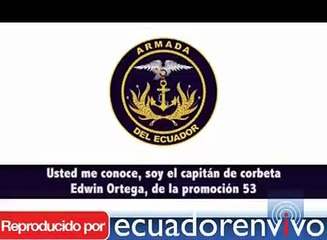 Audio de oficial de la Armada crispa aún más la tensa relación entre los militares y Correa
