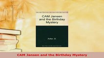 Download  CAM Jansen and the Birthday Mystery  Read Online