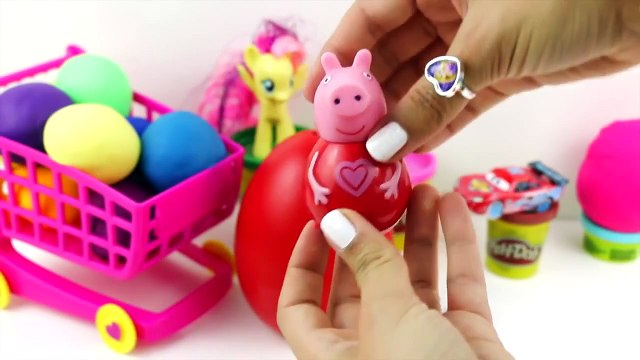 Peppa Pig | Peppa Pig Kinder Surprise Eggs | Play Doh Cars 2 Angry Birds Shopkins Littlest Pet Shop