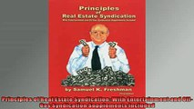EBOOK ONLINE  Principles of Real Estate Syndication With Entertainment and OilGas Syndication  FREE BOOOK ONLINE
