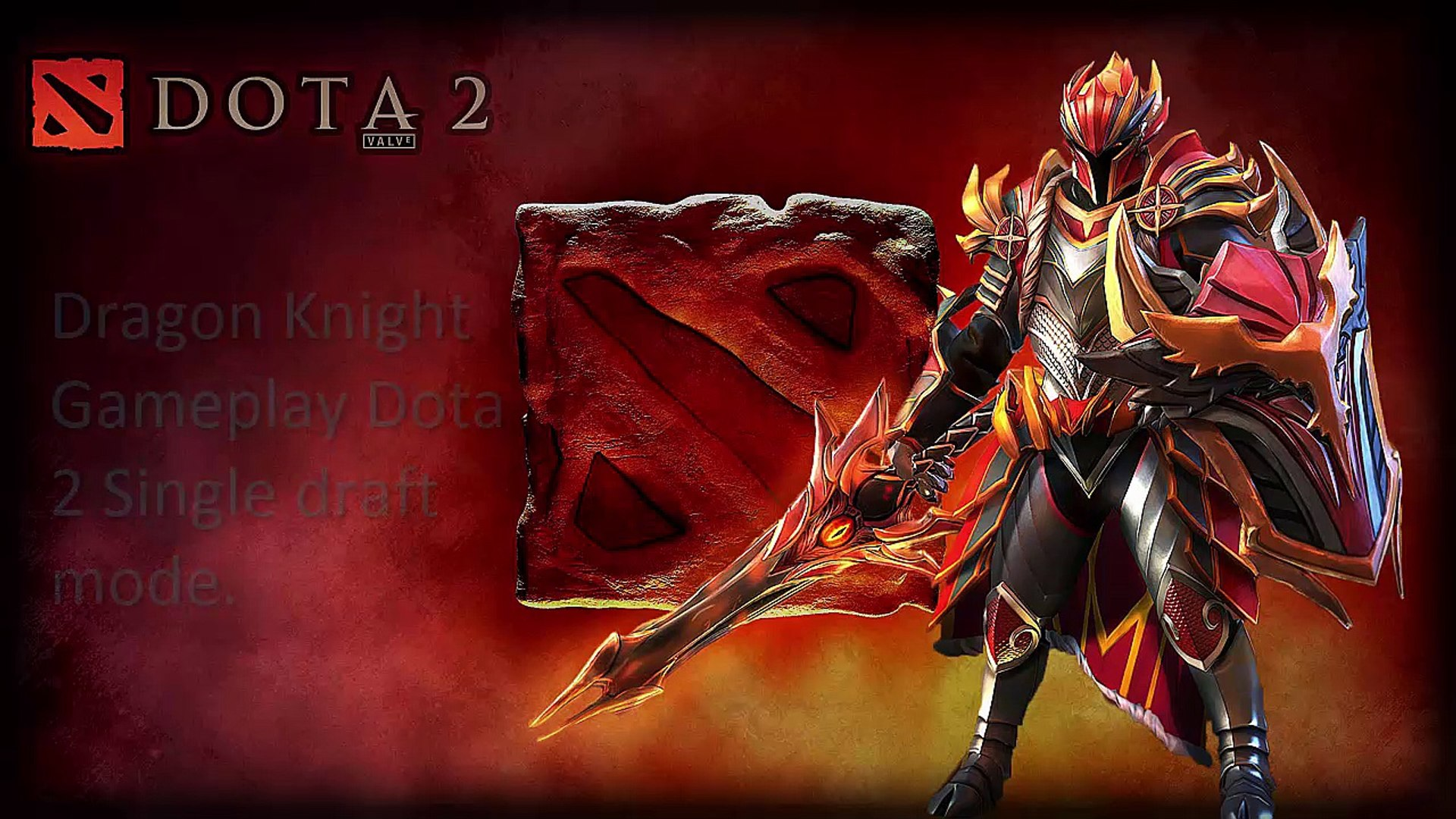 Dota 2 - Dragon knight Dota 2 Game play Single Draft mode