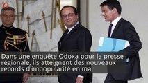 François Hollande et Manuel Valls : impopularité record