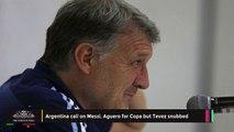 Copa America Argentina Calls Lionel Messi & Sergio Aguero, Ignores Carlos Tevez