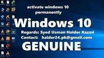 How to Activate winodows 10 & pro & N genuine : windows 10 crack : windows 10 pro serial key