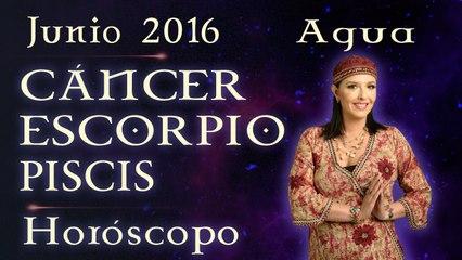 Horóscopo CANCER, ESCORPIO Y PISCIS Junio 2016 Signos de Agua por Jimena La Torre
