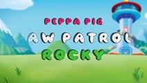 Peppa Pig en Español   Kinder Surprise Eggs   Peppa pig change Paw Patrol Character Serie